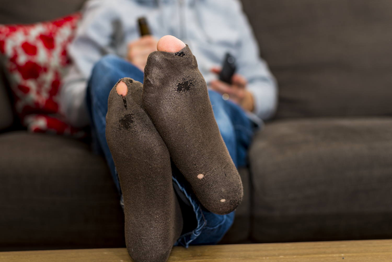 Löcher in Socken