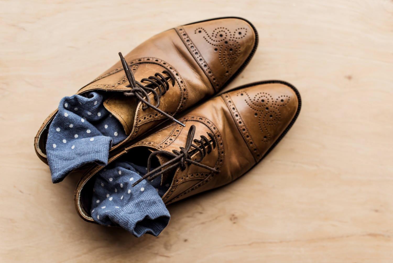 Socken zum Schuh